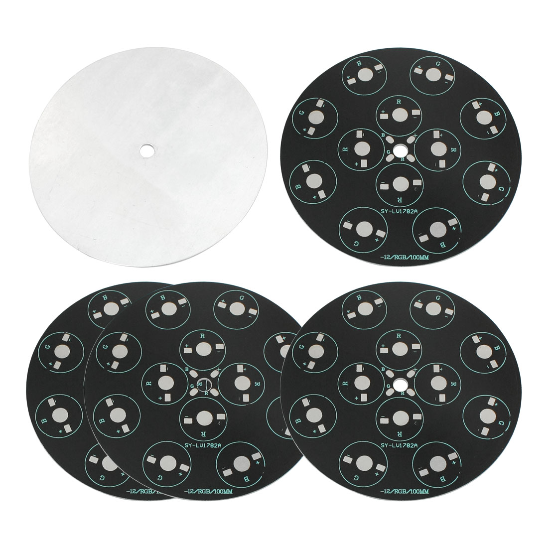 5Pcs 12 x 1W 3W RGB LED High Power DIY Circle Aluminum PCB Circuit Board 100mm Diameter