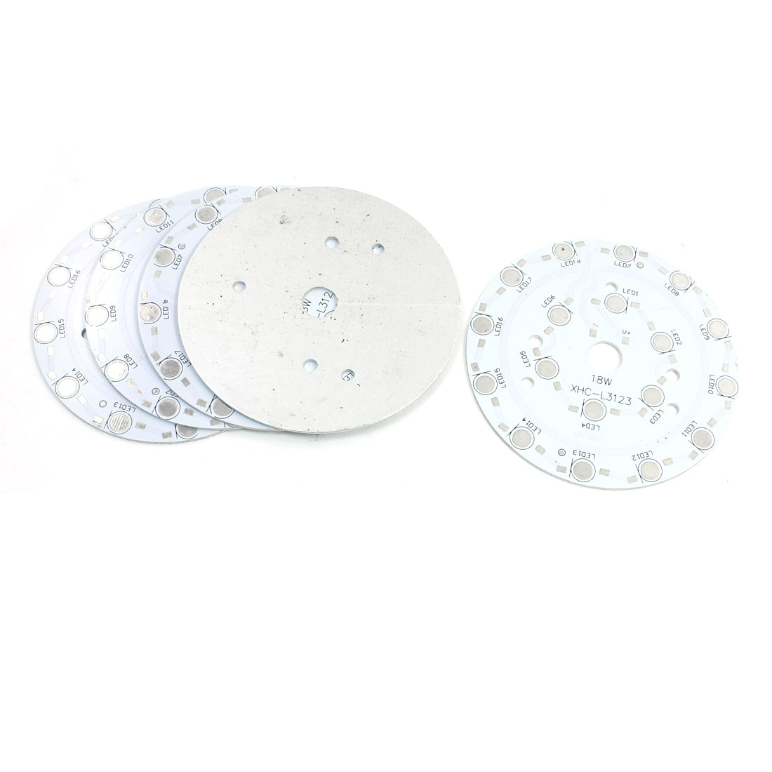 5Pcs 18 x 1W 3W LED High Power DIY Circle Aluminum PCB Circuit Board 90mm Diameter