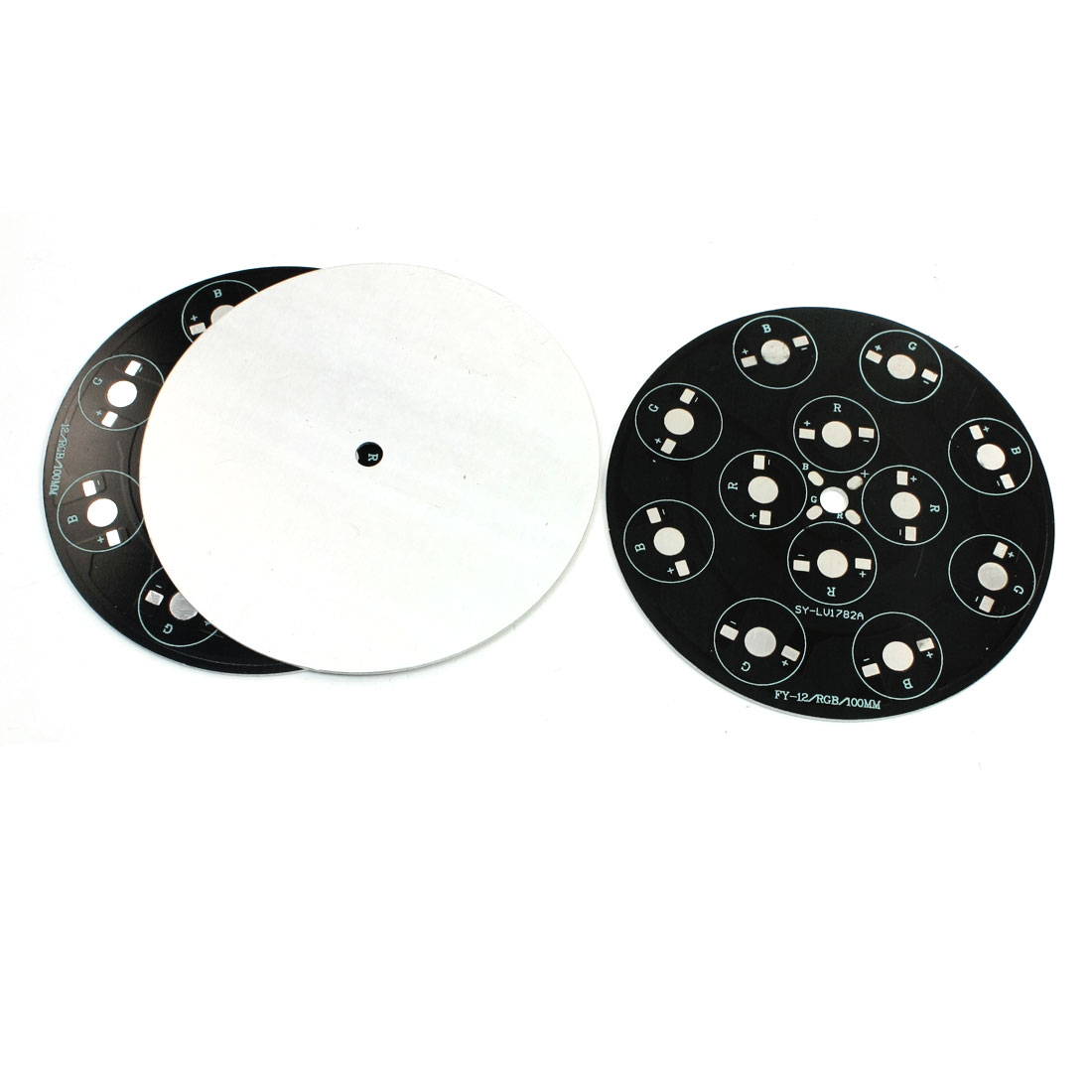 3Pcs 12 x 1W 3W RGB LED High Power DIY Circle Aluminum PCB Circuit Board 100mm Diameter