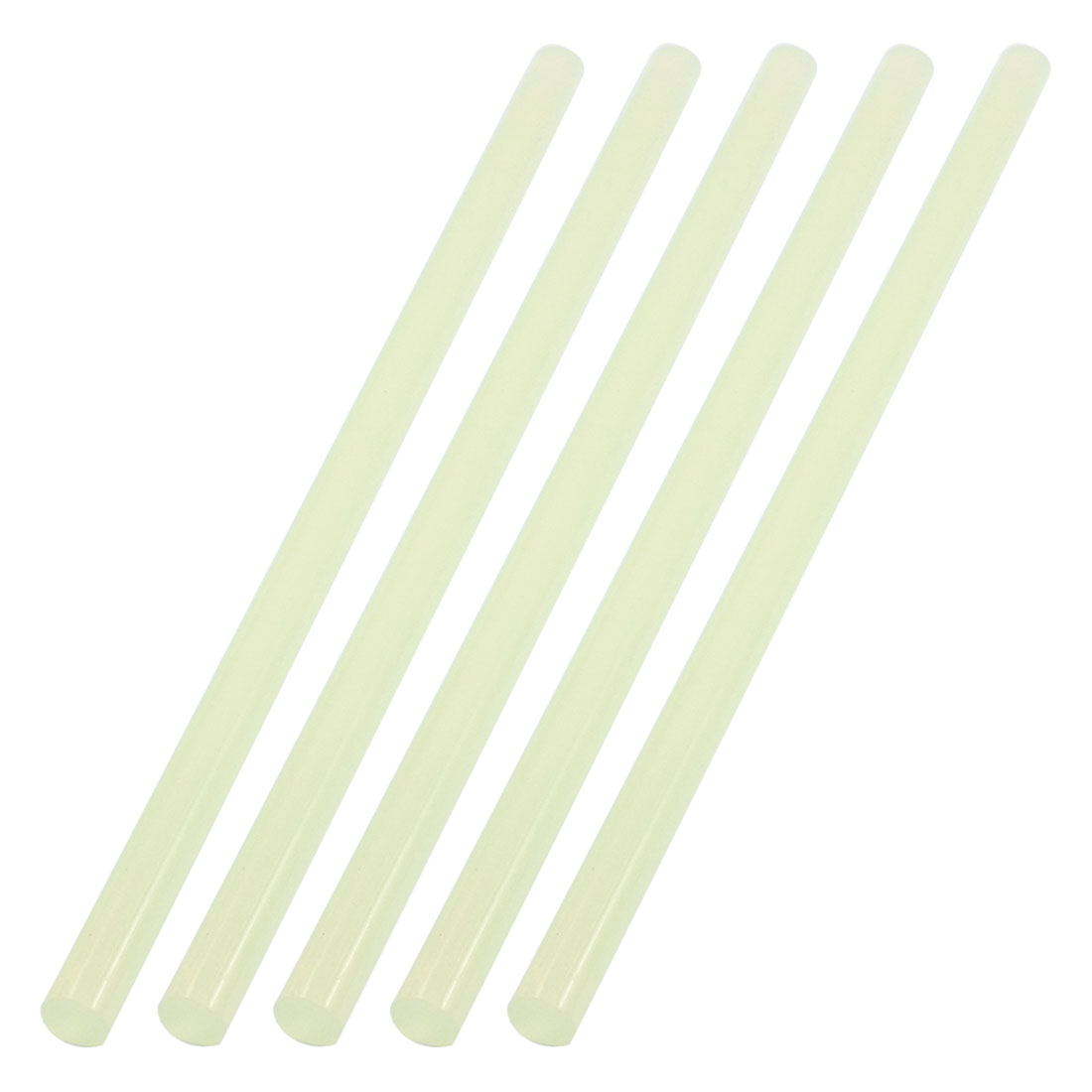 5 Pcs 260mm Length 11mm Diameter Soldering Iron Clear White Plastic Hot Melt Glue Stick