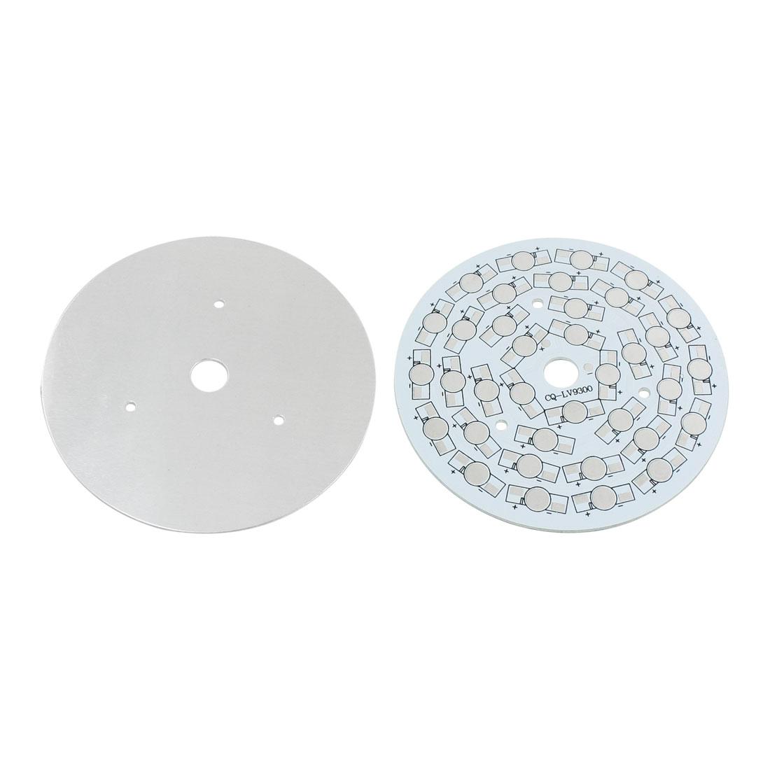 2Pcs 36 x 1W 3W LED High Power DIY Circle Aluminum PCB Circuit Board 108mm Diameter