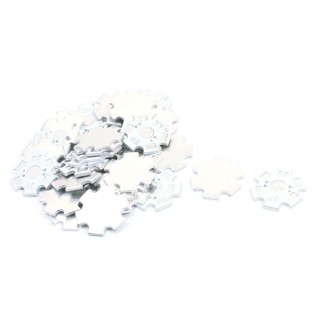 30pcs 20mm Star Shaped Aluminum PCB Circuit Board DIY for 1 x 1W/3W RGB LED in Series