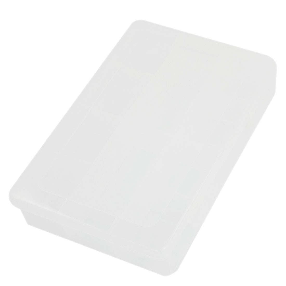 20cm x 13cm Rectangle Plastic Detachable 3 Layers 4 Slots Electronic Components Tool Storage Case Box w 9pcs Sheet