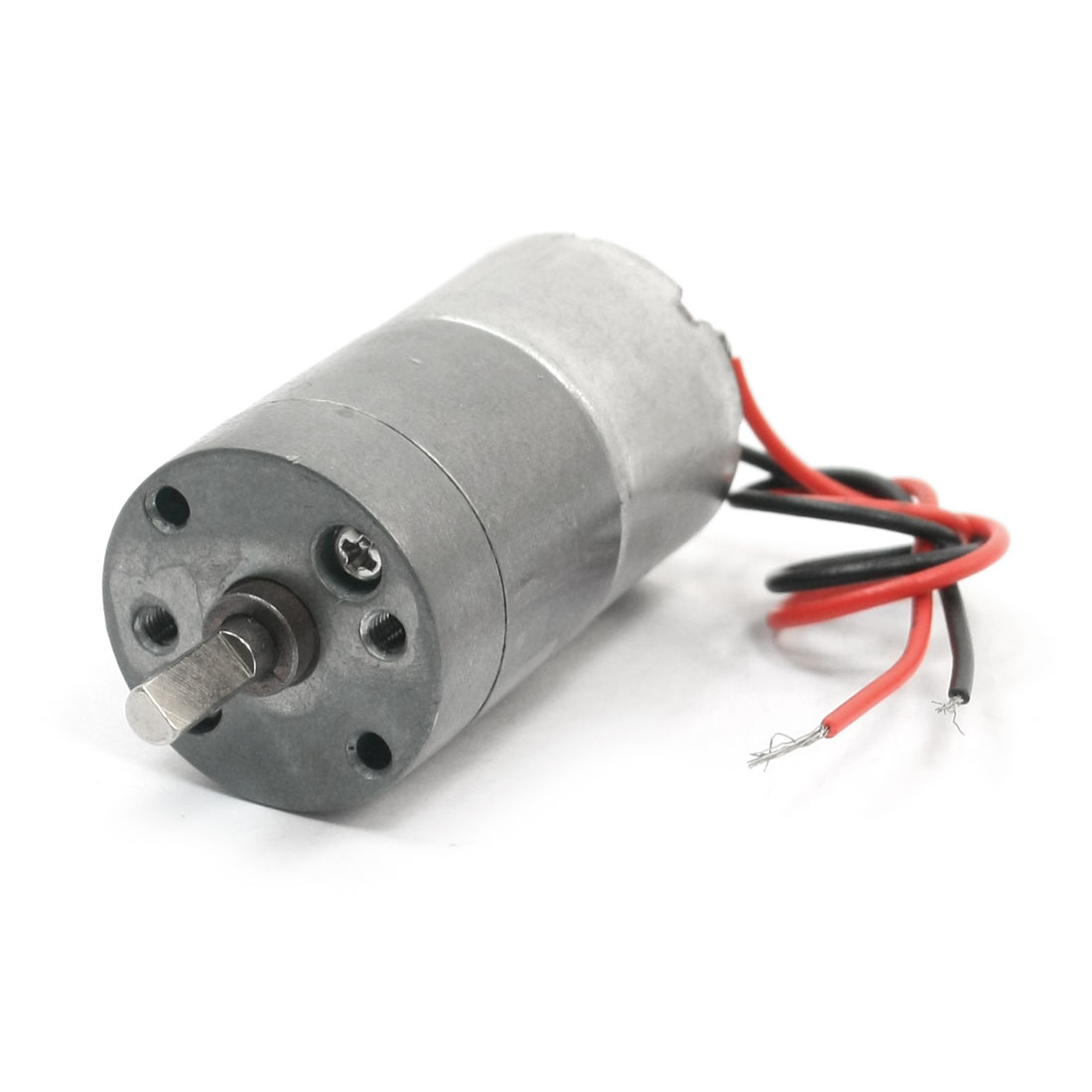 4mm Drive Shaft 75 r/min Output High Torque Rotary Speed Reducing 2-Wire Connect Cylinder Shape Gearbox Motor DC 12V