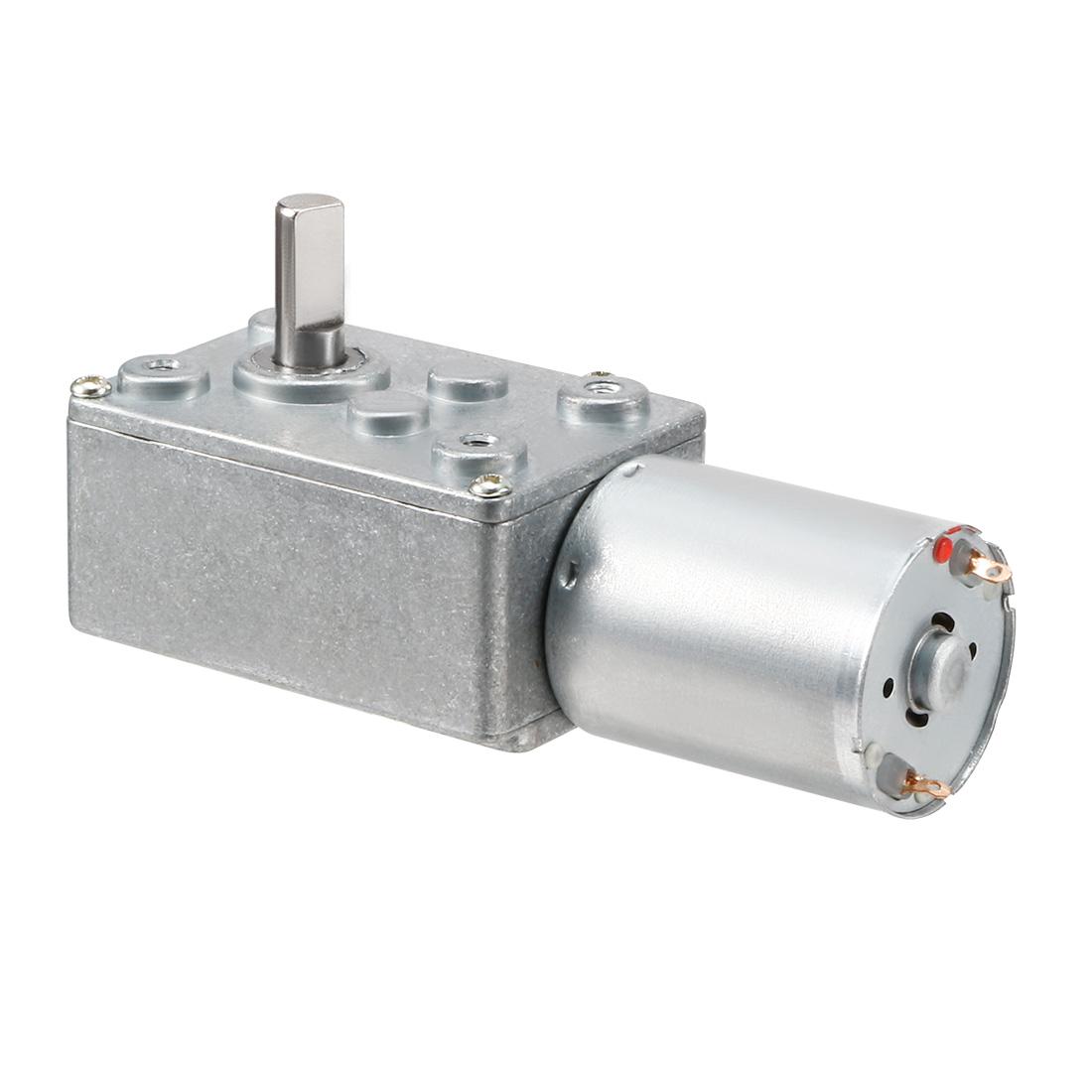 6mm Shaft 100RPM Reduction Ratio 65/1 Speed Reducer Worm Gear Motor DC 12V JSX69-370