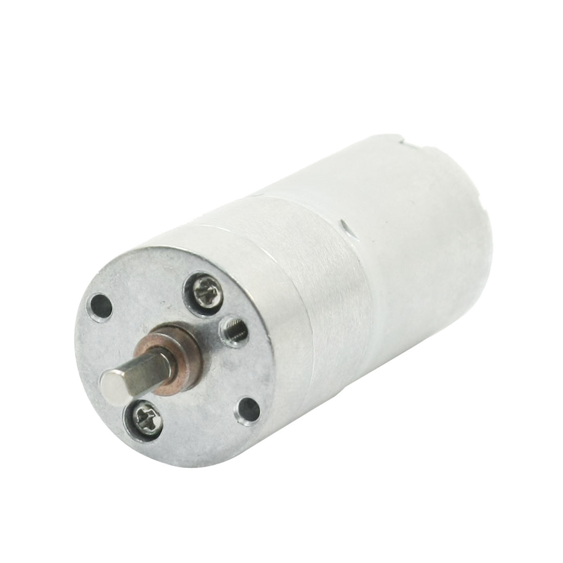JL25A370 4mm Drive Shaft 59 r/min Output High Torque Rotary Speed Reducer Cylinder Shape Gearbox Motor DC 12V