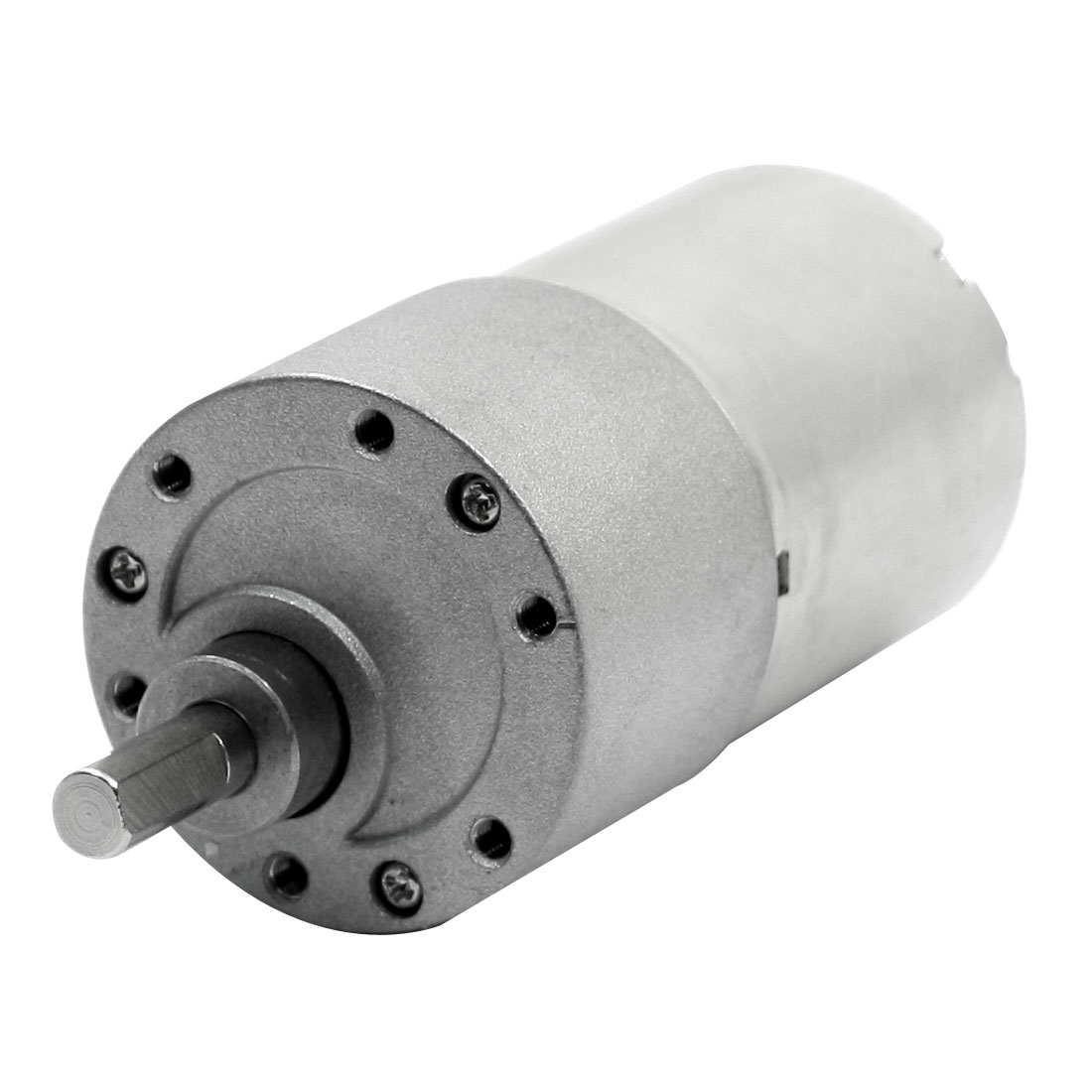 6mm x 15mm Shaft 46 r/min Output Rotary Speed Reducer Connecting Cylindrical High Torque Gear Motor DC24V