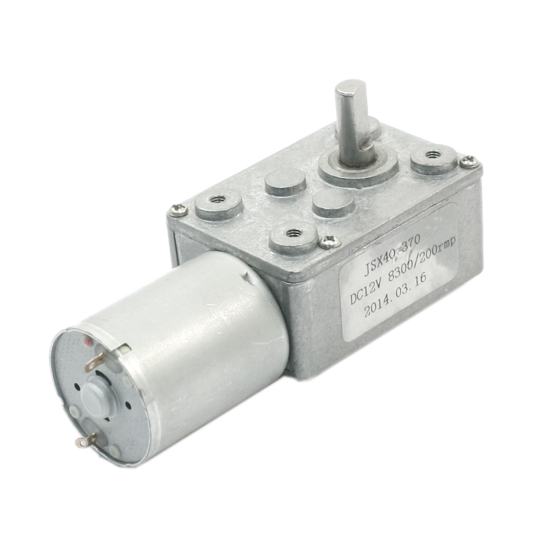 DC 12V Connecting Reduction Ratio 8300RPM 200RPM Rotary Speed Reducer Self-locking High Torque Worm Geared Box Motor