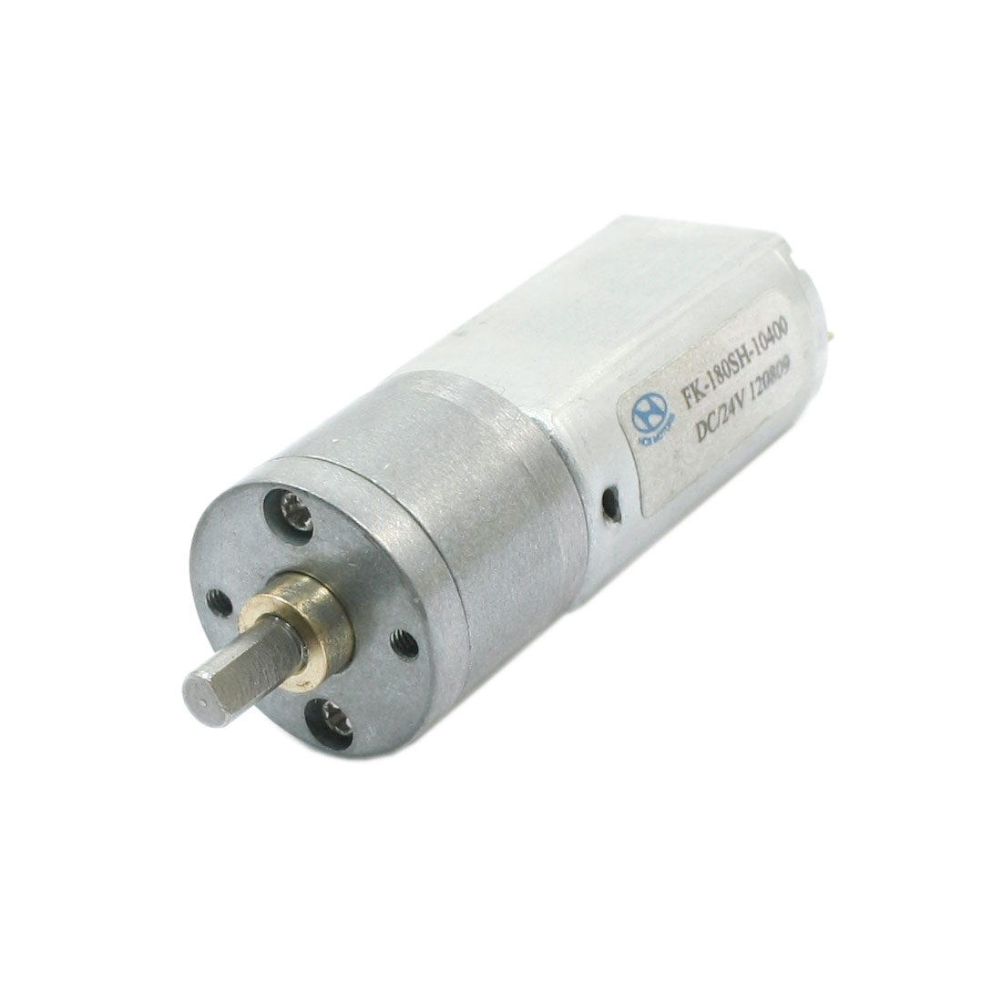 4mm Dia Drive Shaft 140rpm Output High Torque Rotary Speed Reduce Cylinder Shape Electric Geared Box Motor DC 24V