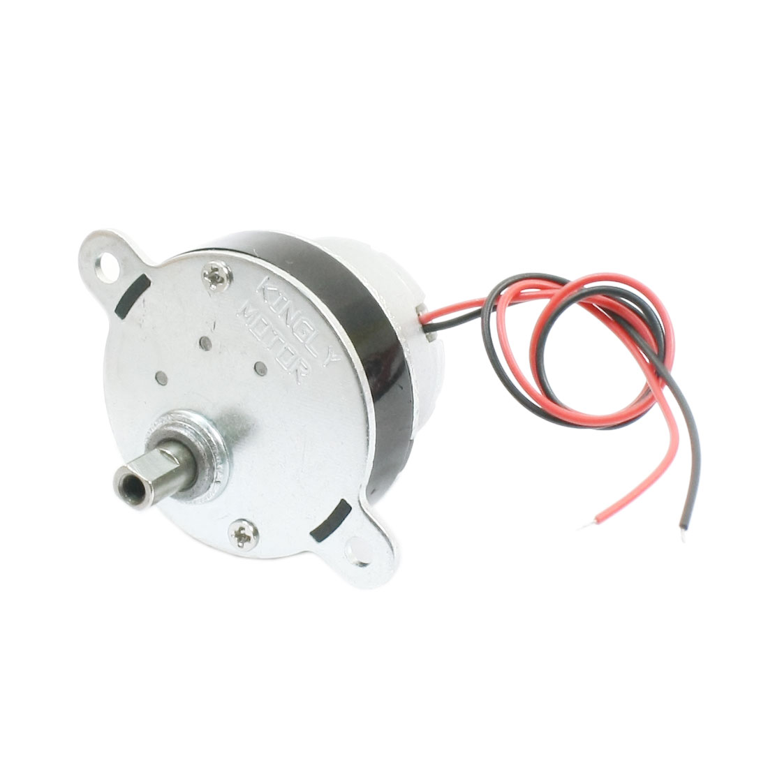 DC6V 5mm Drive Shaft 2-Wire Connecting 30 r/min Output High Torque Speed Reducing Geared Box Motor