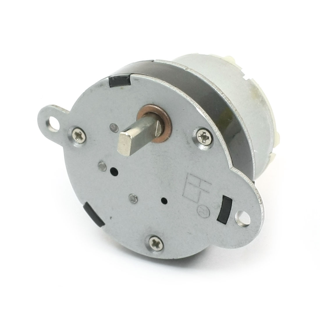 DC 12V 5mm Dia Drive Shaft Connecting 40 r/min High Torque Rotary Speed Reducing Cylinder Shaped Electric Gearbox Motor
