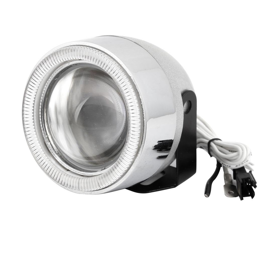 2 Pcs Auto Car Angel Eye Projector Lens HID Xenon Kit Headlamp Light Warm White DC 12V 55W