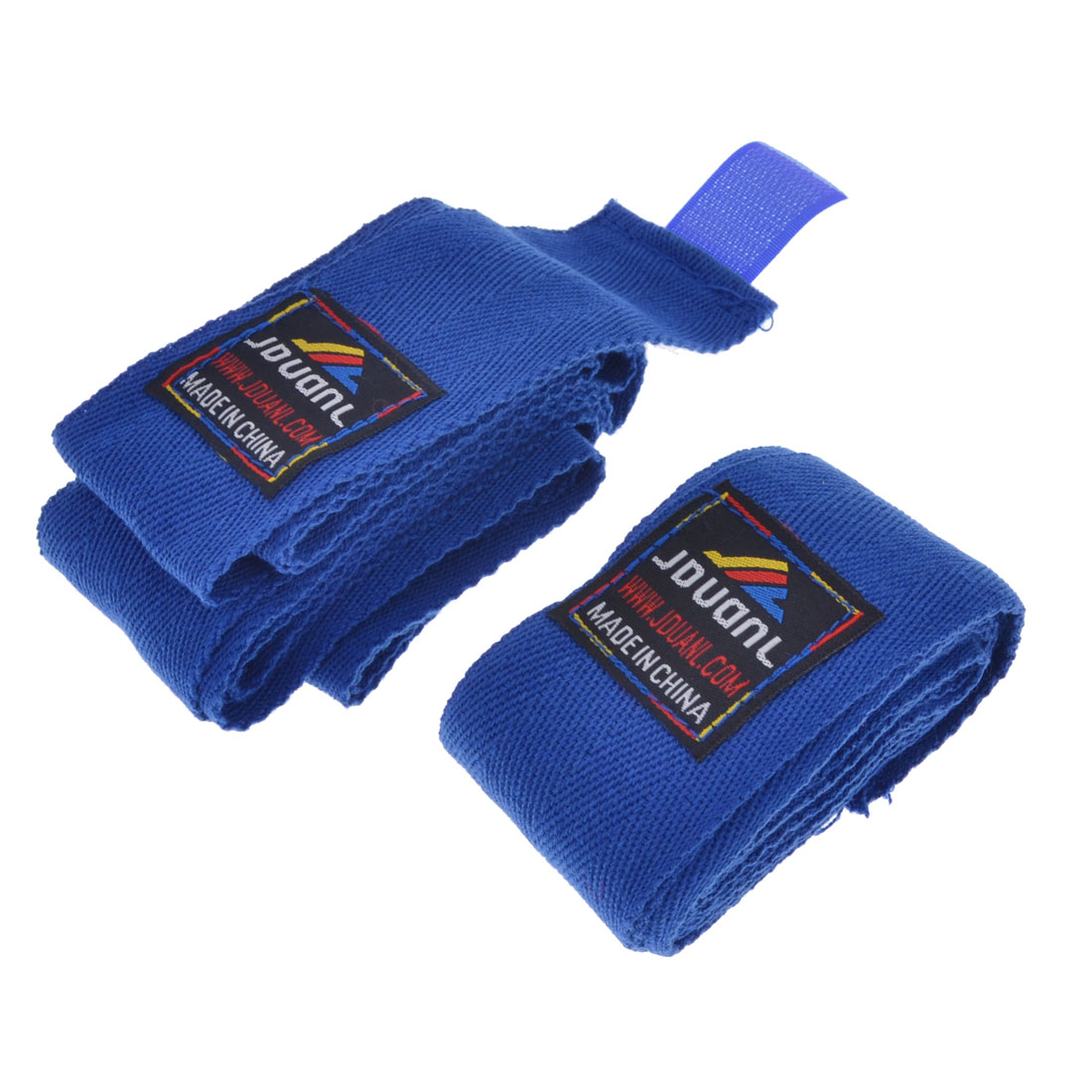 Hook and Loop Fastener Blue Boxing Hand Wraps Bandages Pair
