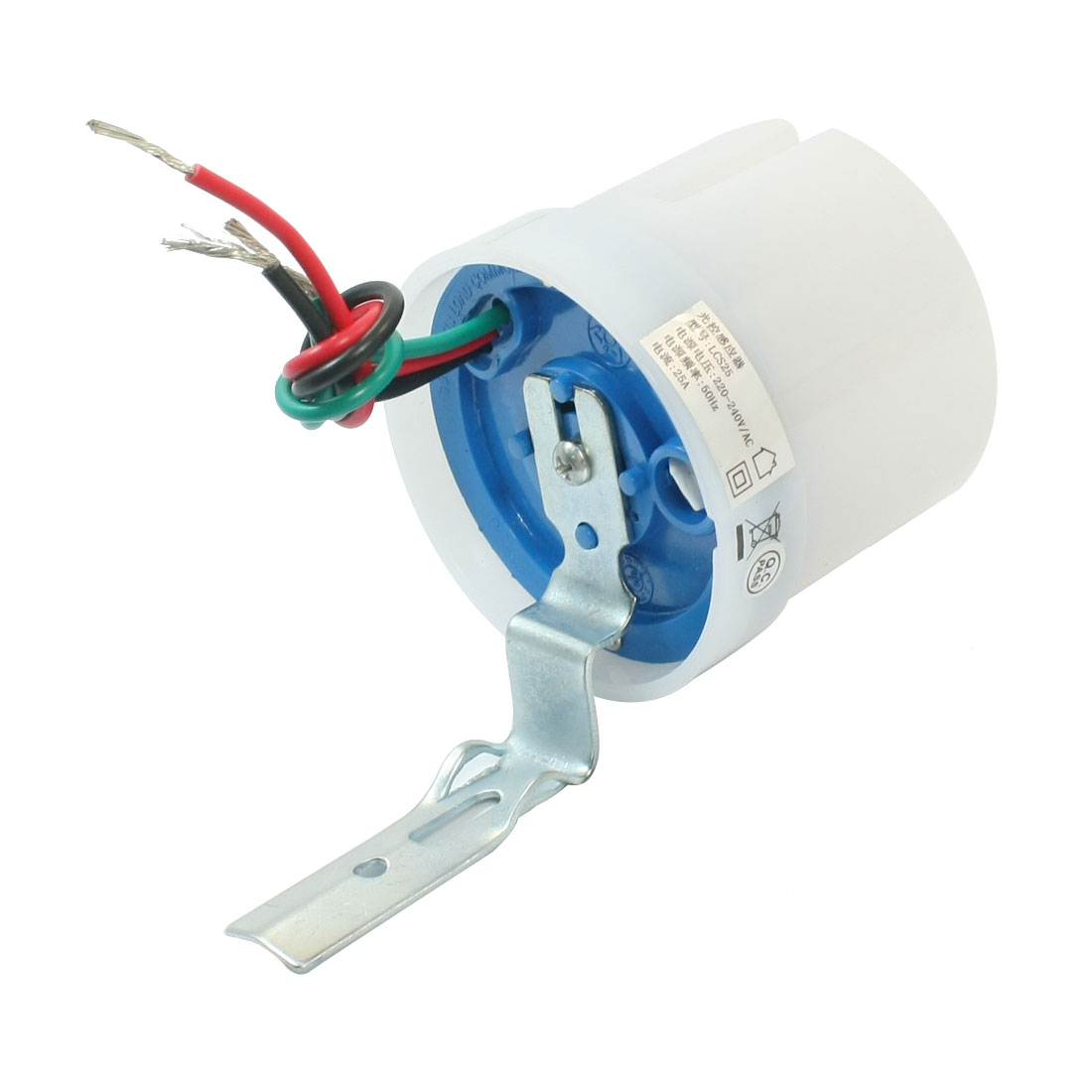 Street Lamp 3-Wire Connecting Automatic On Off Adjustable Water Proof Light Control Sensor Switch AC 220-240V 25A
