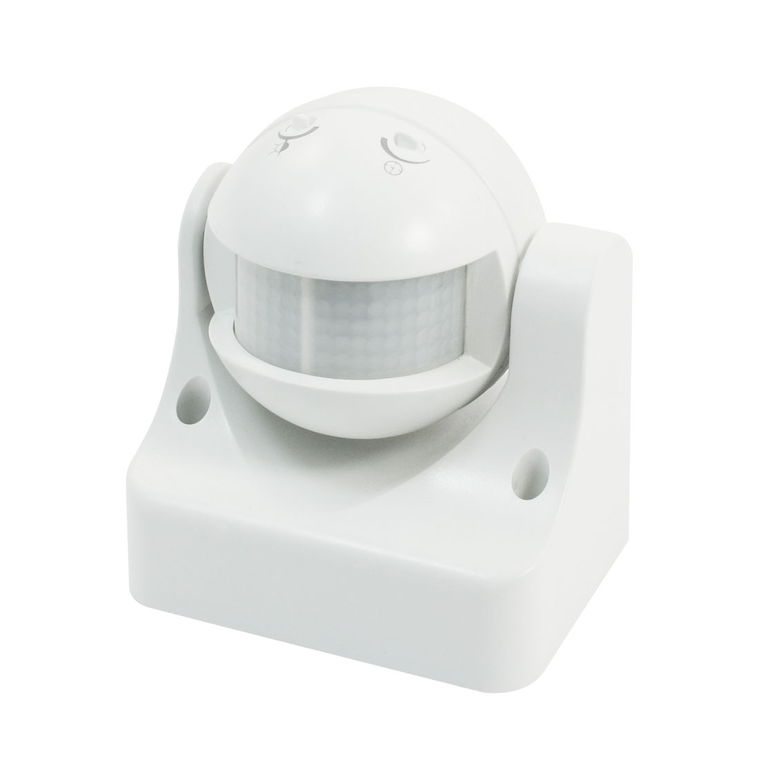 AC220V-240V 12M Detection Distance Rotary Head White Plastic ON OFF Automatic Infrared Sensor Switch 5s-8min