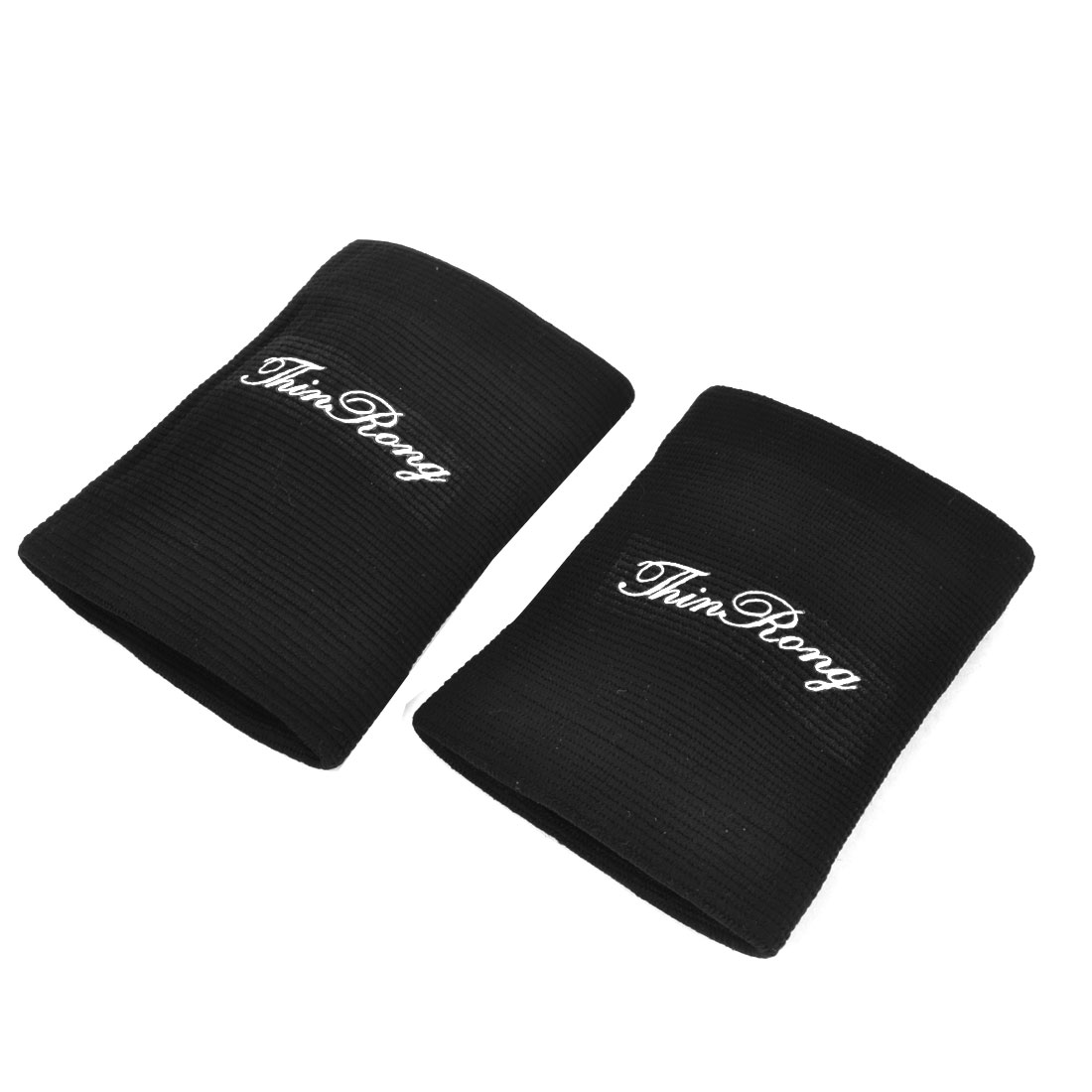 Pair Outdoor Sports Pullover Design Wrist Support Guard Black