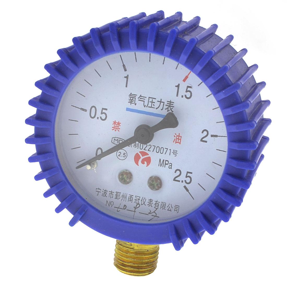 Round Dial 0.5 Accuracy Air Compressor Pressure Gauge 0-2.5MPa