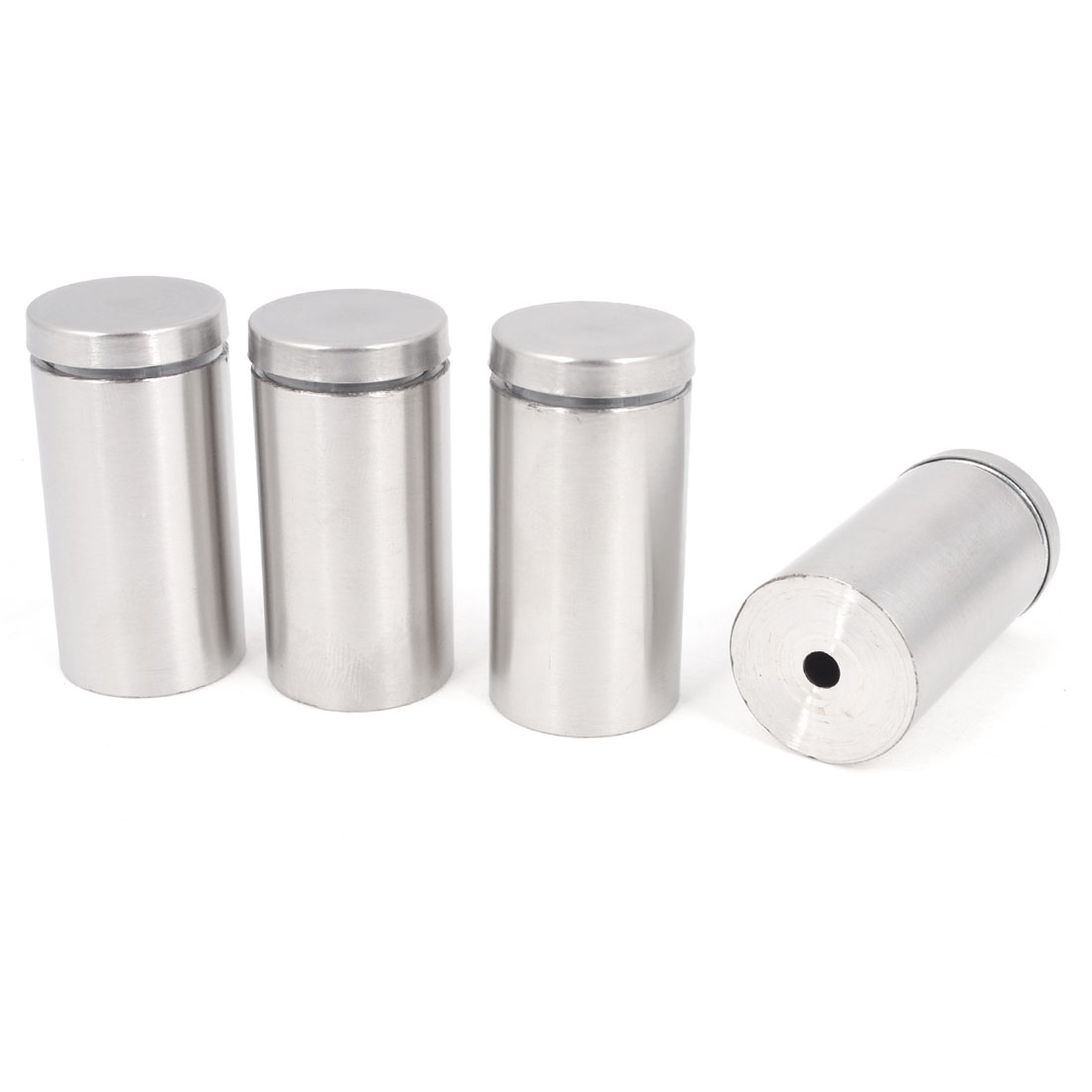 4 Pcs Silver Tone 2mm-10mm Glass Railing Advertising Nail Glass Connector Standoff Holder Clamp Hardware 25mm x 50mm