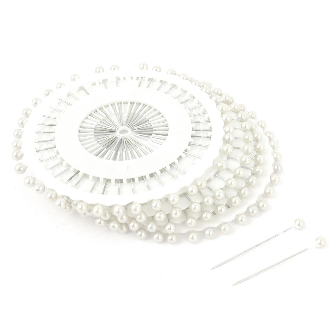 Needlework Tailor White Round Beaded Head Pins 36mm Long 150 PCS