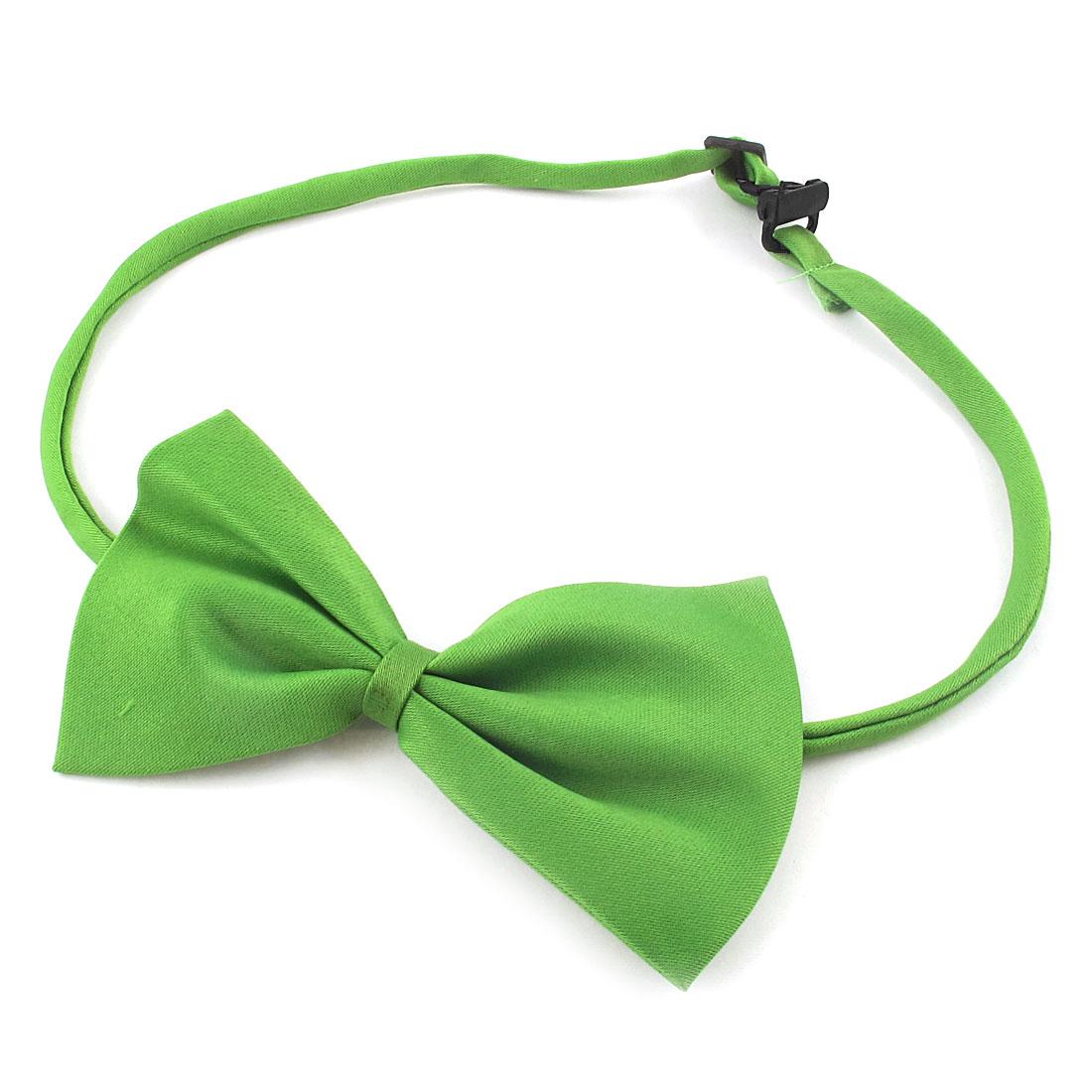 2pcs Adjustable Band Pet Dog Doggy Bowtie Necktie Collar Green