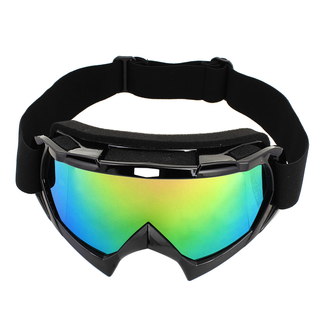Adjustable Strap Green Purple Lens Ski Motorcycle Goggles Wind Glasses