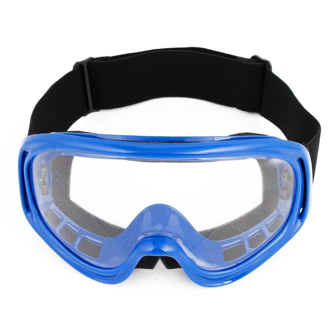 Plastic Frame Clear Lens Ski Motorcycle Goggles Glasses Blue