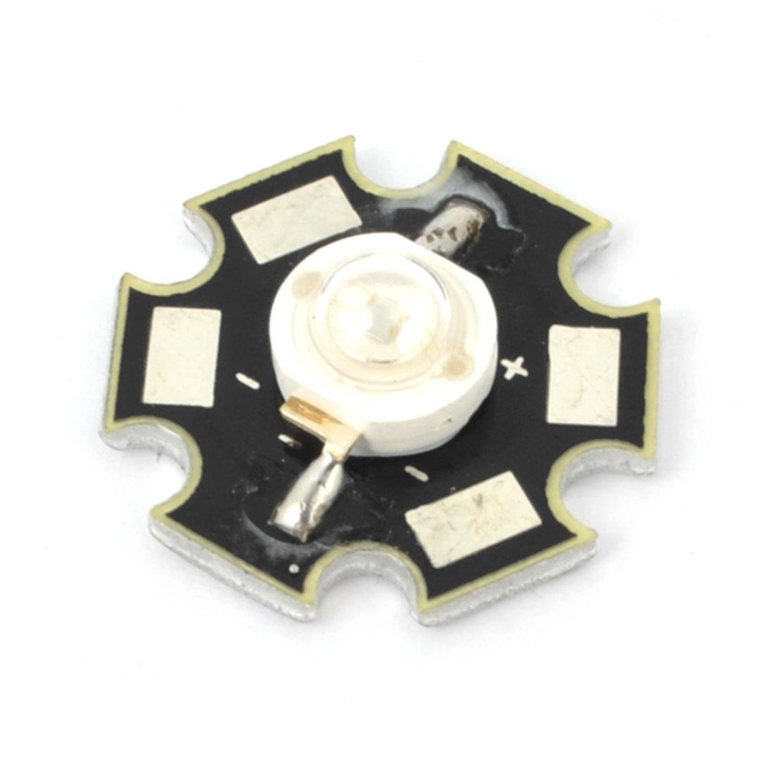 1W 350mA 3.2-3.6V Purple LED Star Emitter Lamp Bead w Heat Sink Base