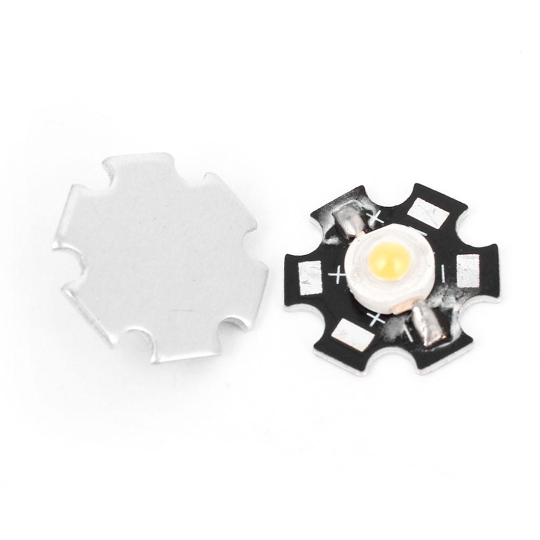 2pcs 1W 3000-3500K Warm White Light LED Lamp Bead Emitter 110-120LM w Star Base
