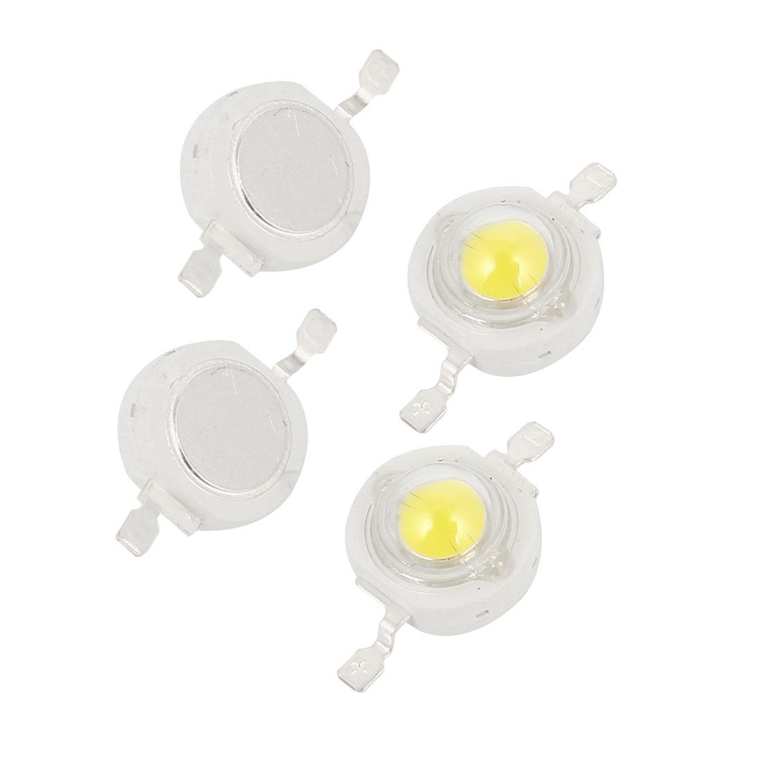 4pcs 5W Power White LED Light Bulb Bead Emitter 290-300LM 3.0-4.0V