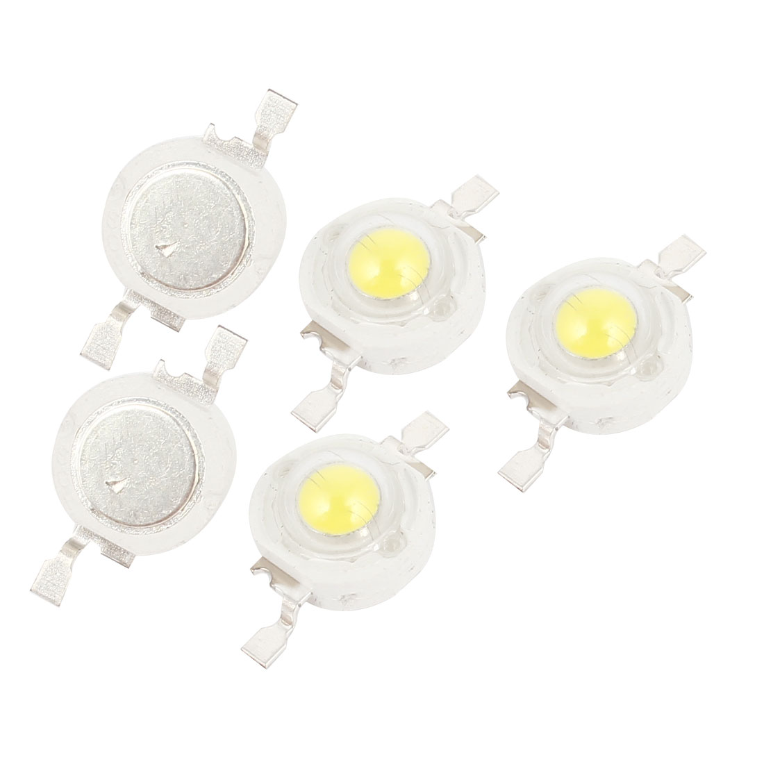 1W Energy Saving White LED Lamp Light Beads Emitter 100-110LM 5pcs