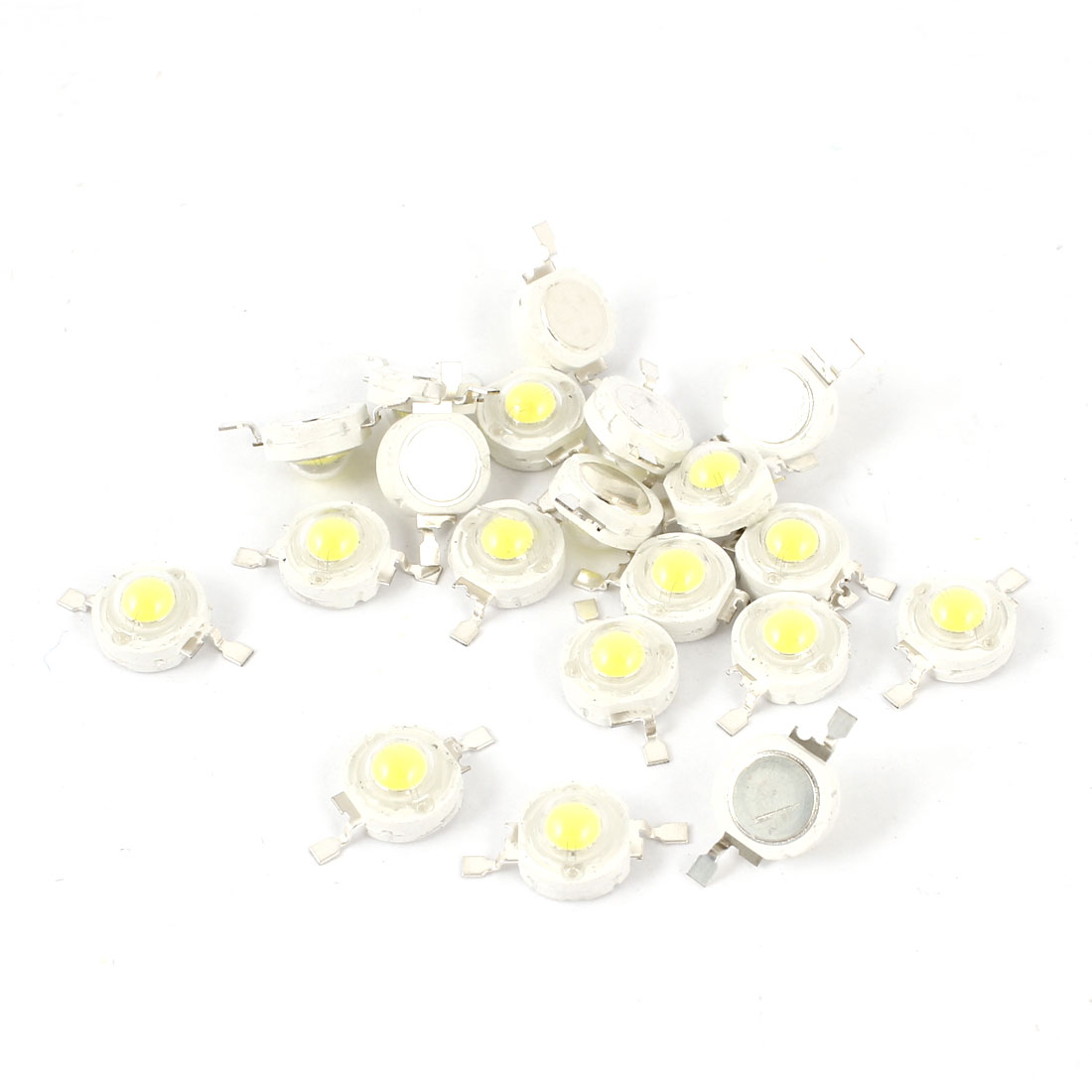 20pcs 1W Power 100-110LM 2 Terminal White Light LED Lamp Diodes Beads