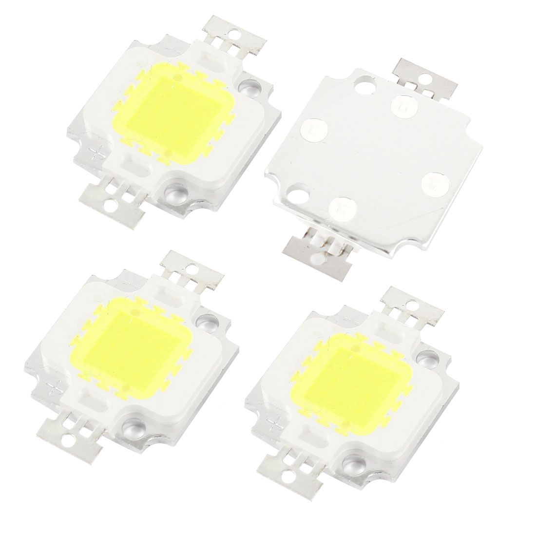 4pcs 10W White Light High Power LED Lamp Emitter Metal Plate 850-900LM