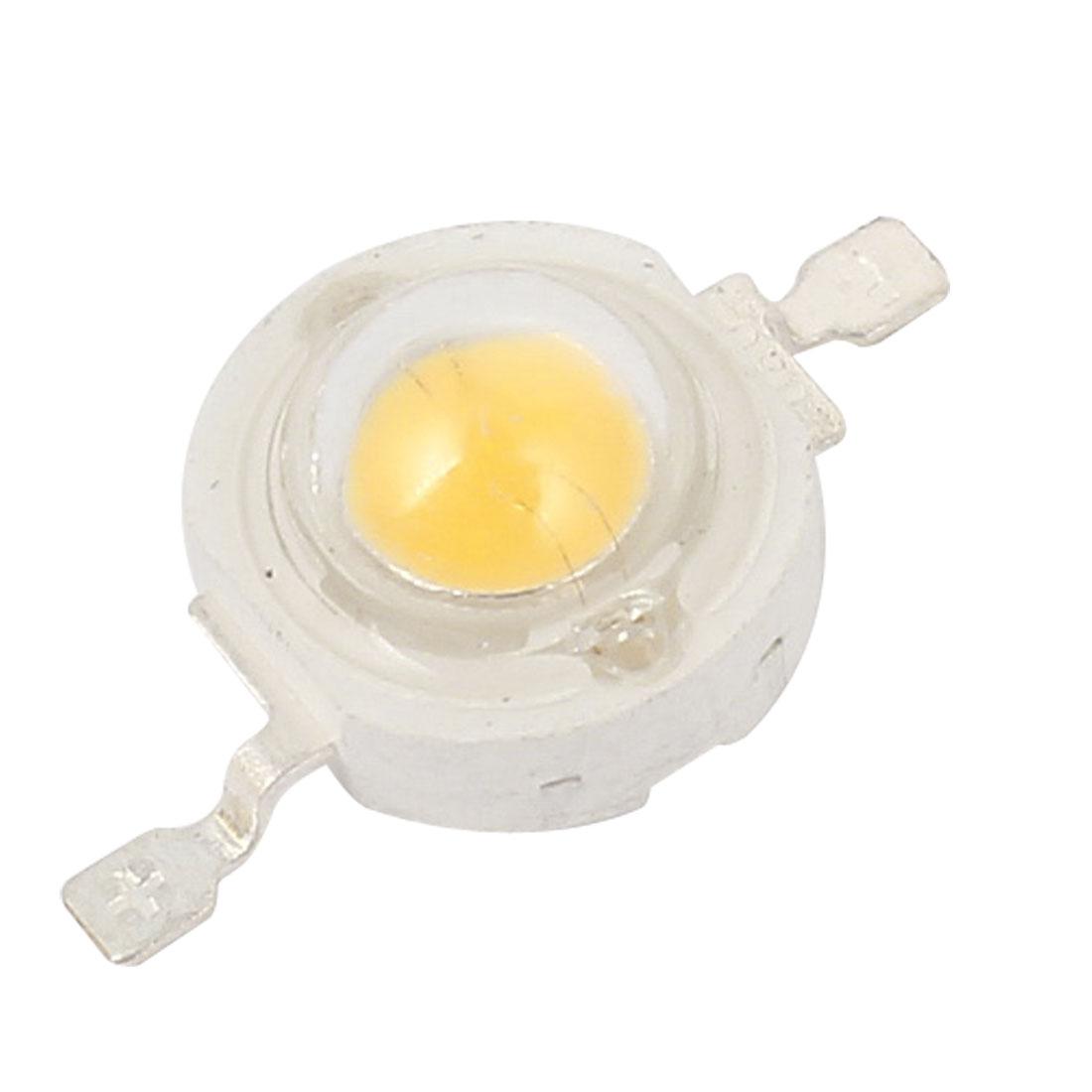 1W Power Warm White LED Light Bead Emitter 100-110LM 3000K-3500K