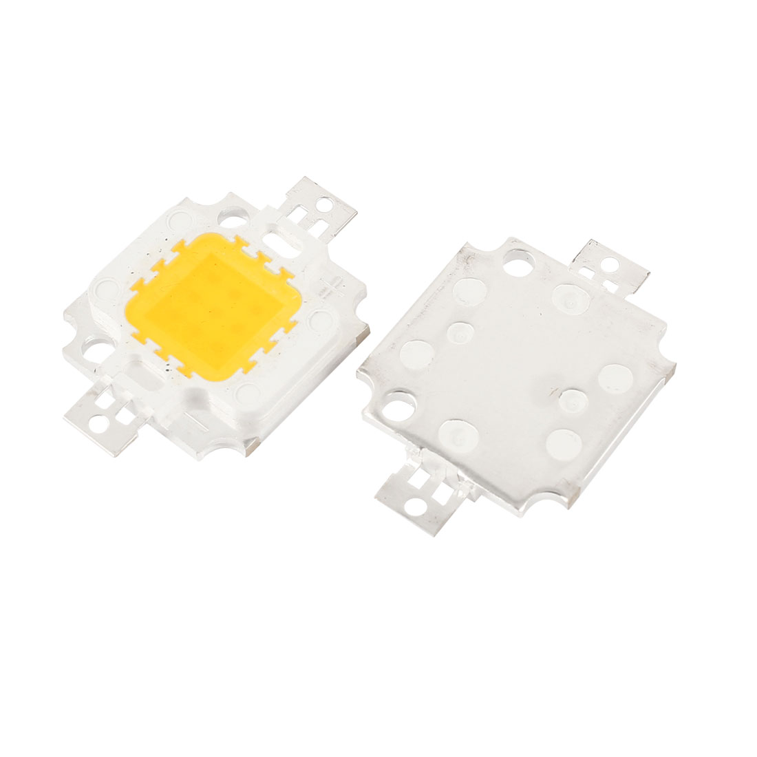 2pcs 10W Warm White Light High Power LED Lamp Emitter Metal Plate 850-900LM