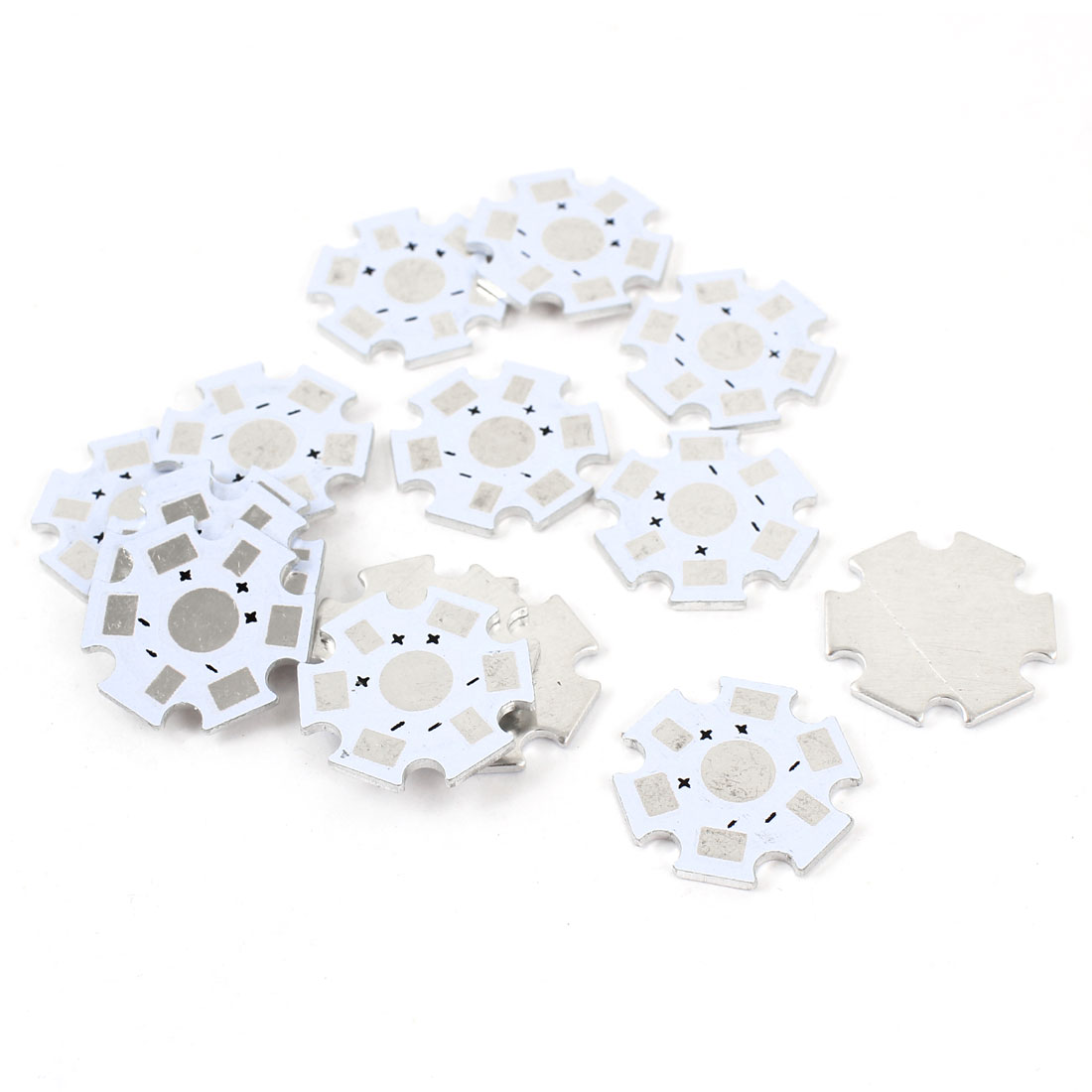 20mm 1W 3W 5W High Power LED Aluminum Base Heatsink Plate Replacement 15Pcs