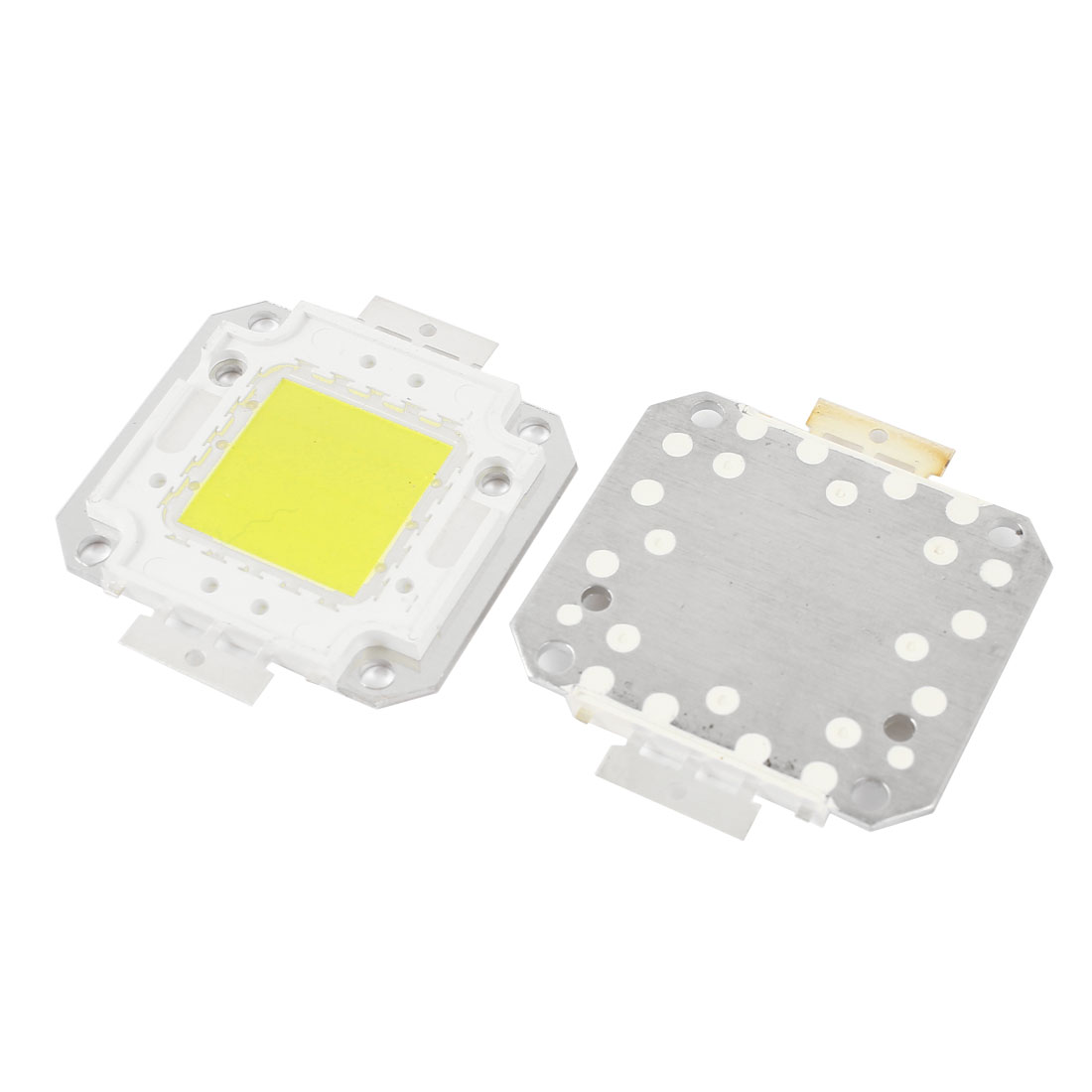 2pcs 30W Yellow LED Emitter Metal Plate White Lamp Light 16-18V 1.8A