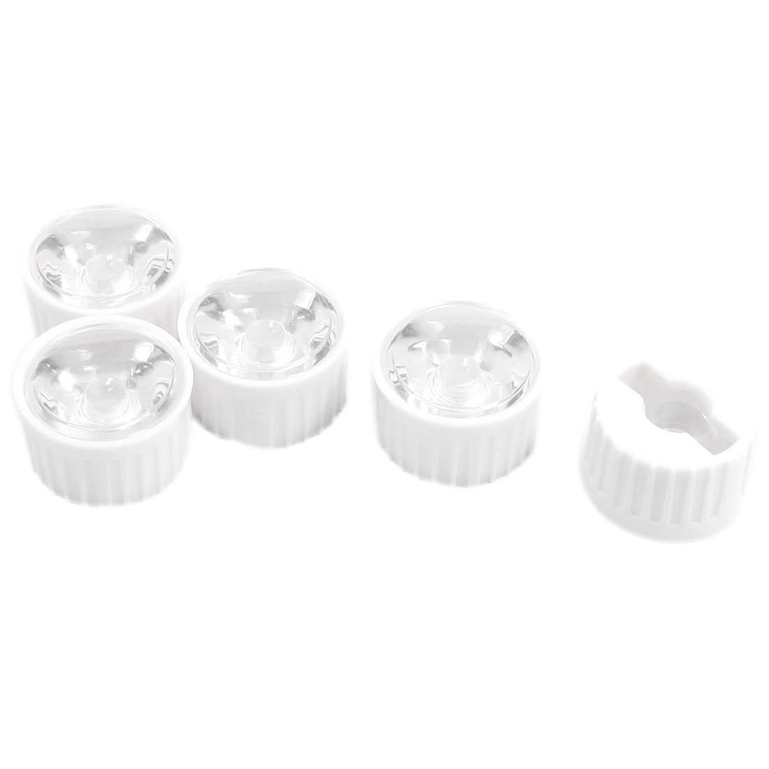 5pcs 22x13mm PMMA High Power LED Optical Lens 50 Degree Viewing Angle