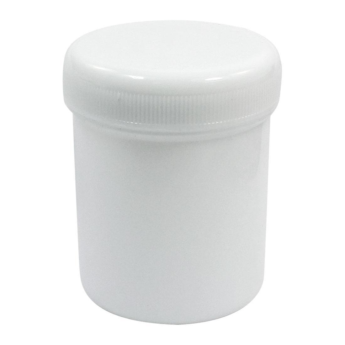 150mL Capacity 60mm Dia Mouth White Plastic Skidproof Cap Solder Paste Bottle