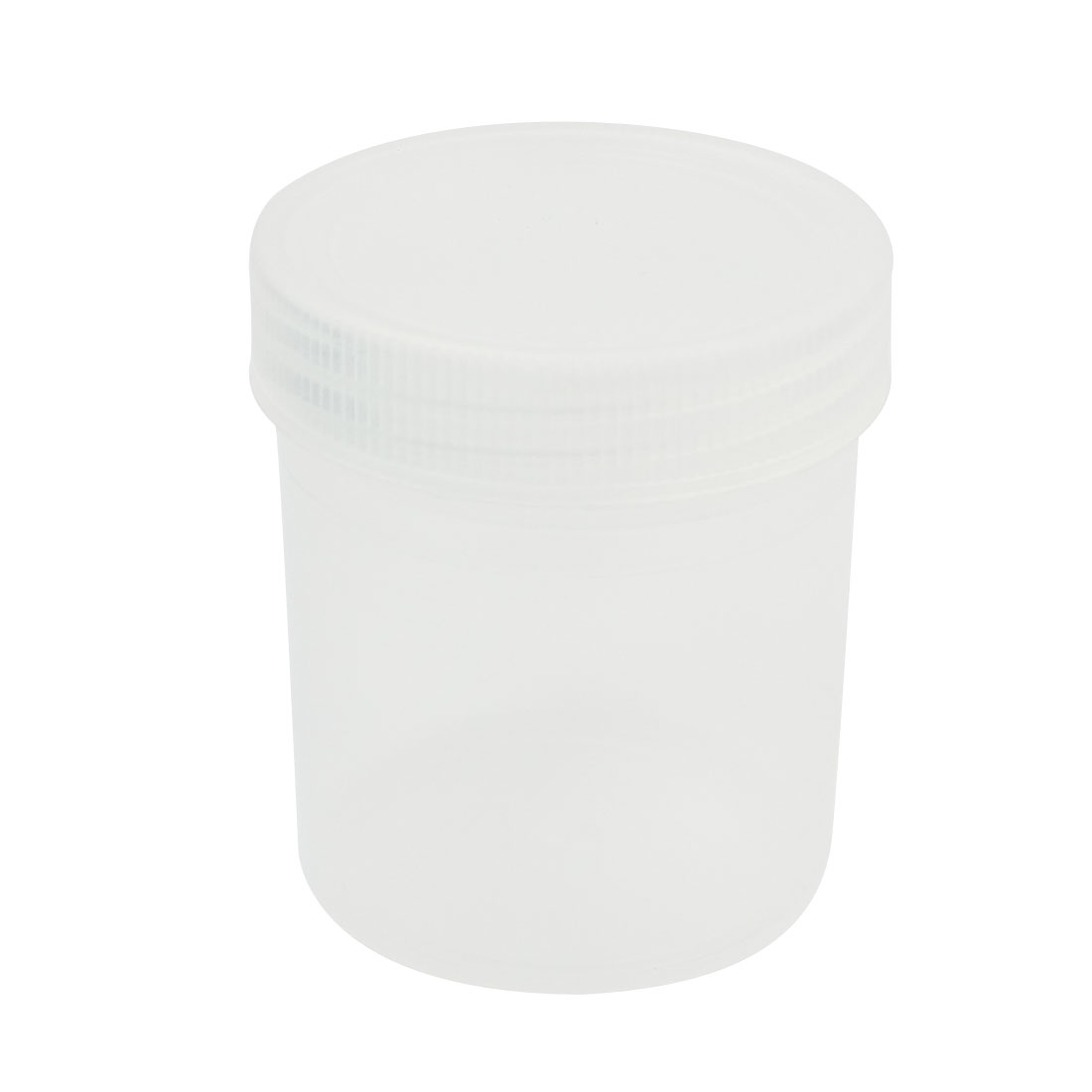 100mL Capacity Clear White Plastic Chemical Storage Jar Bottle for Laboratory