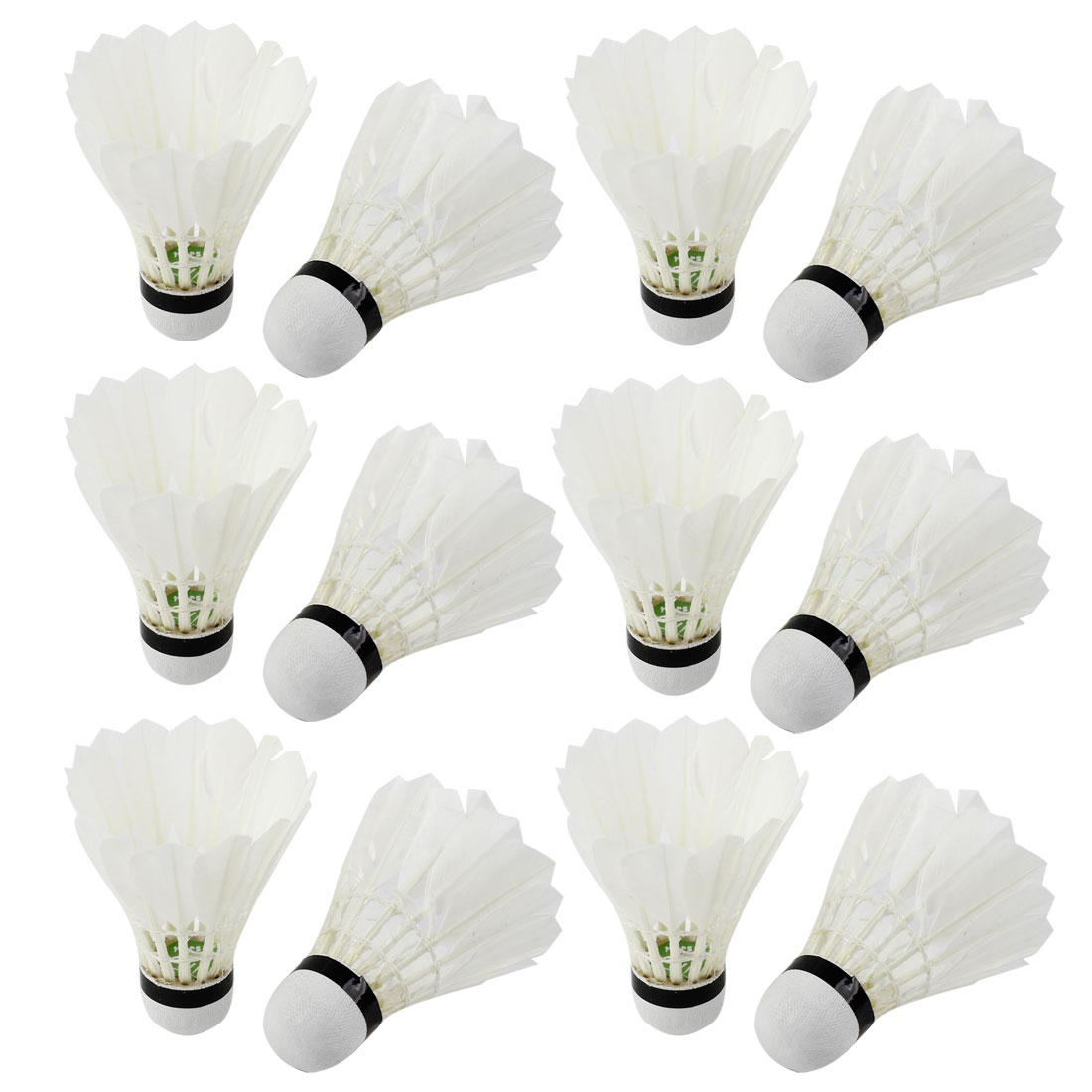Outdoor Sports Gym Athletic Training Badminton White Goose Feather Foam Bottom Shuttlecocks 12pcs
