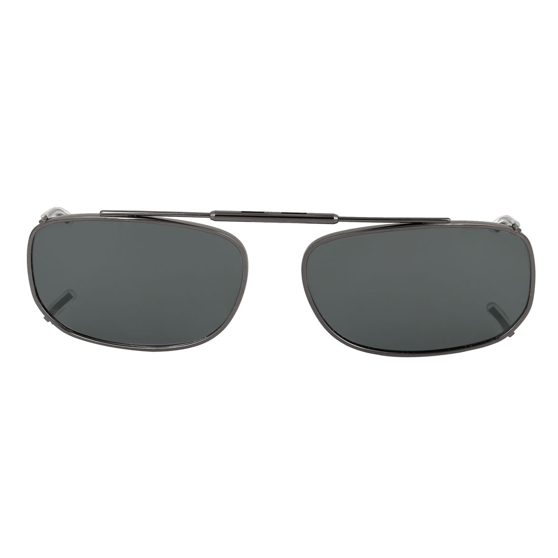 Unisex Outdoor Rimless Dark Gray Polarized Lens Clip on Sunglasses
