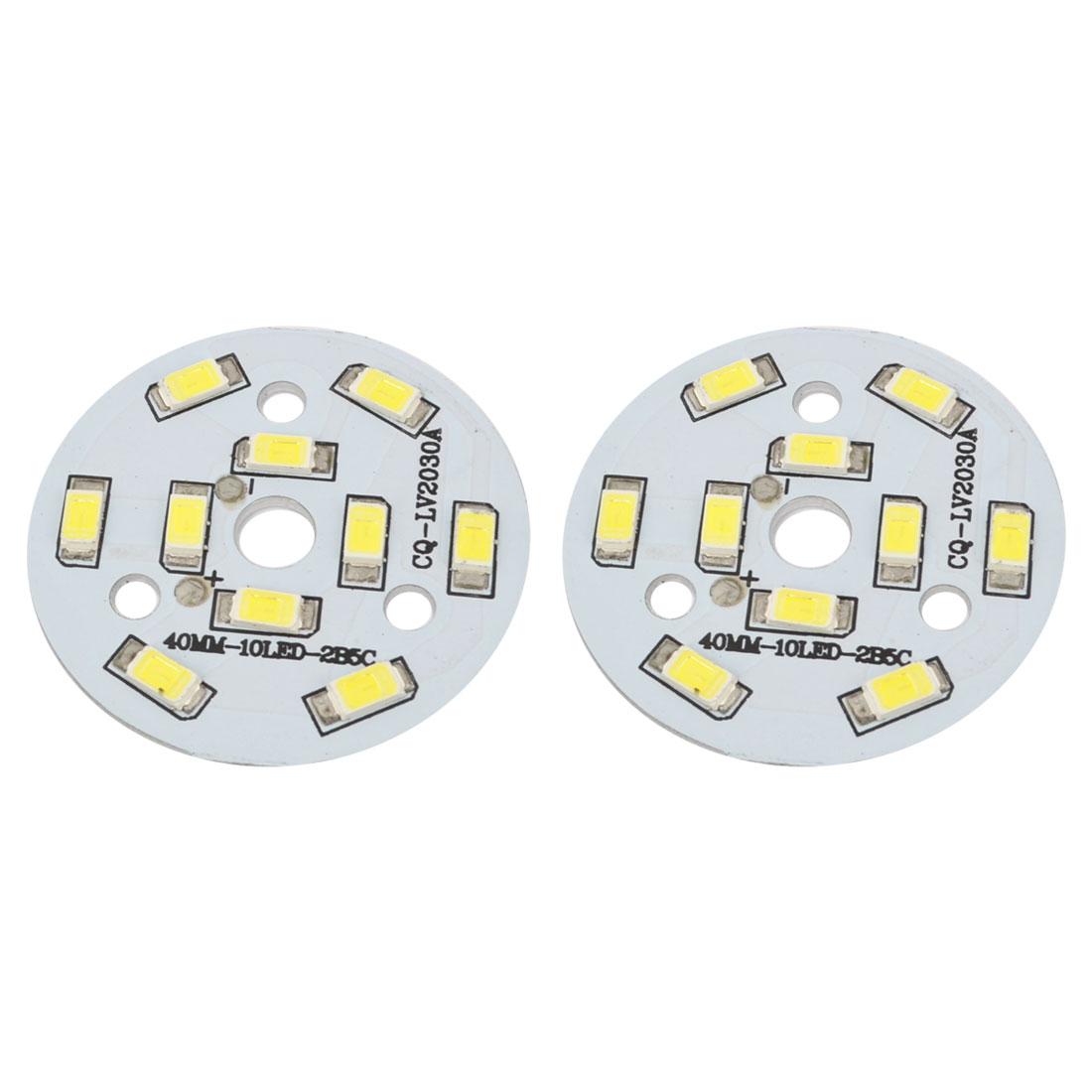 50-60LM 5W White 10x 5730 SMD LED + 40mm Aluminum PCB Circuit Board 2Pcs