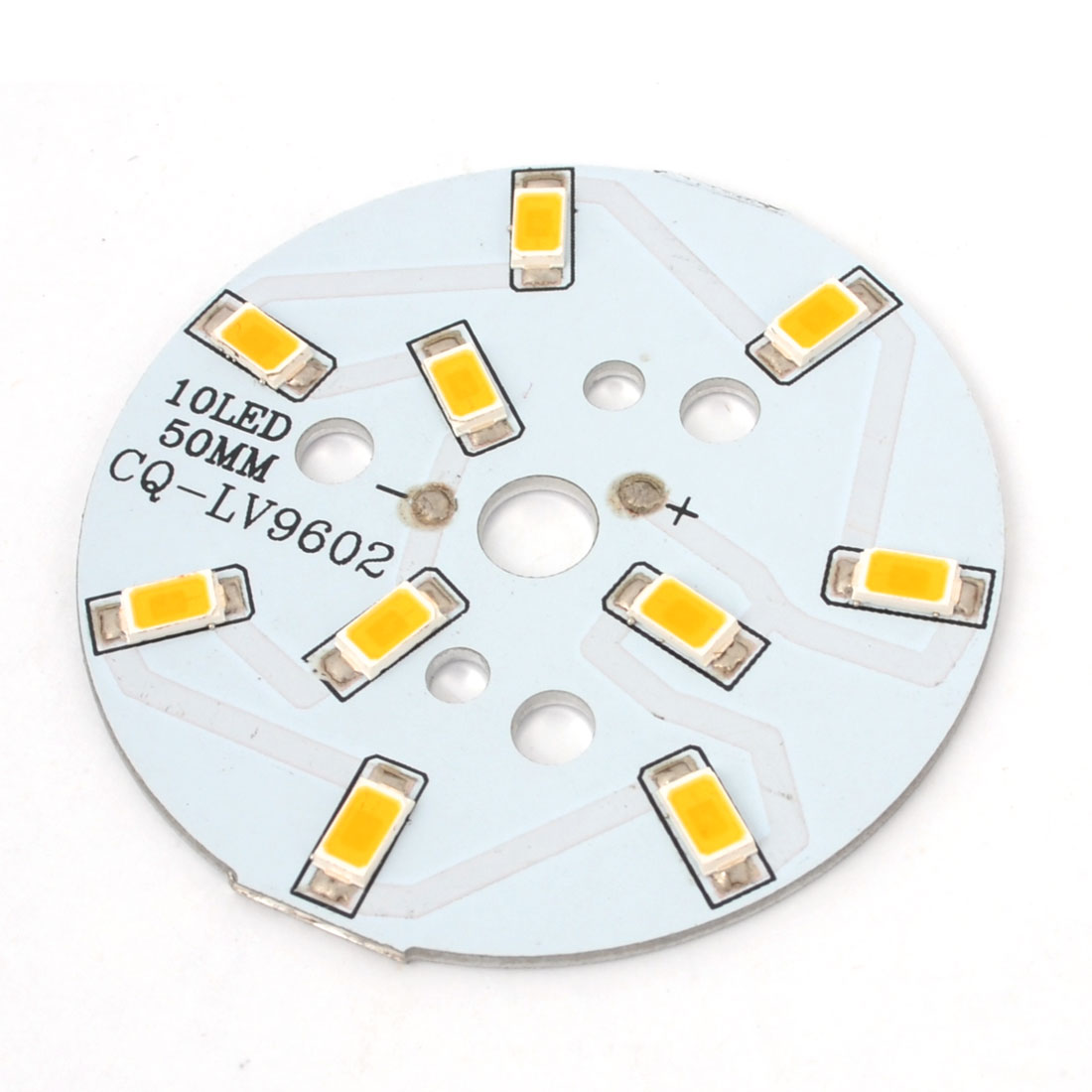 500-600LM 5W Warm White 10x 5730 SMD LED w 50mm Dia. Aluminum PCB Circuit Board