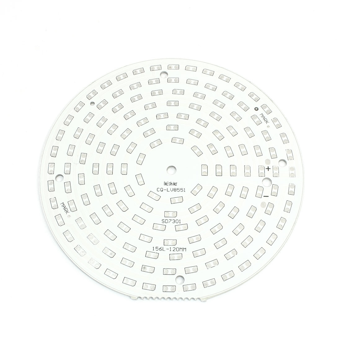 120mm Dia 72mm Hole Distance Round Aluminum PCB Circuit Board DIY for 156pcs x 1/2W 5730/5630 SMD LEDs in Series