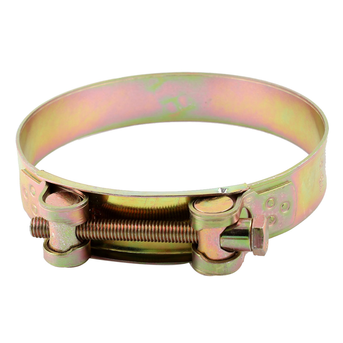 113-121mm Range Adjustable Liquid Hose Pipe Clamp Hoop Bronze Tone