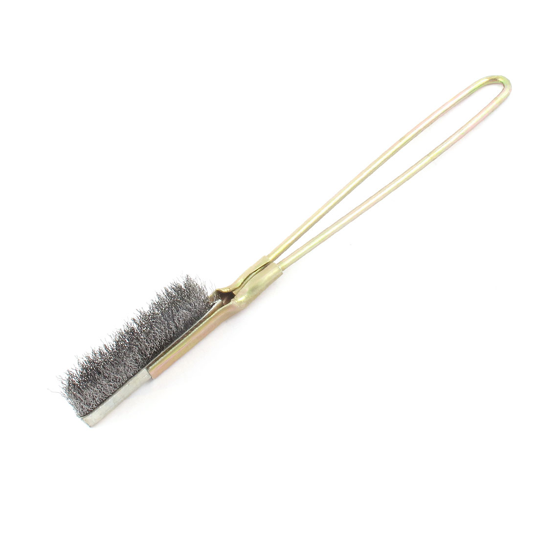 Bronze Tone Handle Handhold Rust Stain Cleaning Steel Wire Brush