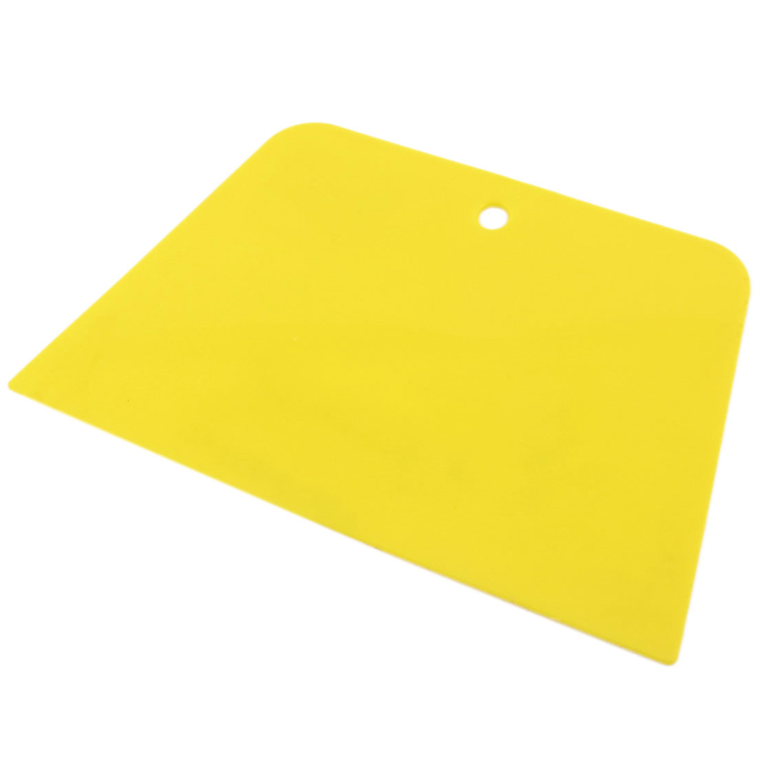 "4.3"" Wide Trapezoid Plastic Varnish Paint Cake Scraper Putty Spreader Yellow"