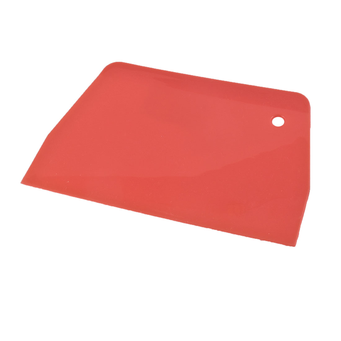 """5.5"""" Long 3.7"""" Wide 3mm Thick Trapezoid Plastic Varnish Paint Cake Scraper Putty Spreader Red"""