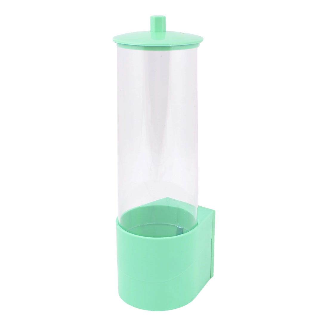 "10.2"" Height Household Kitchen Dustproof Plastic Cups Dispenser Tube Clear White Green"