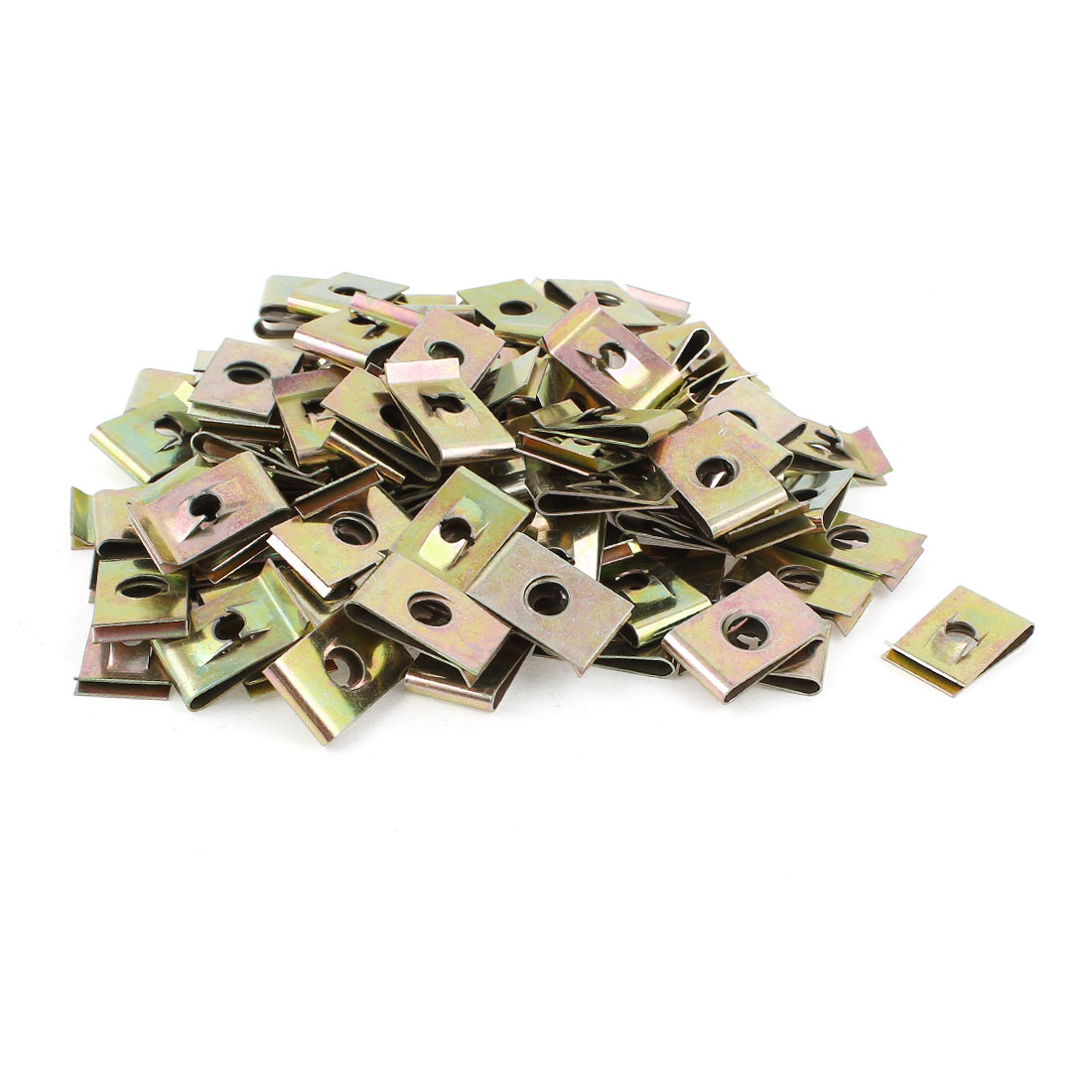 100 Pcs M7 7mm Metal U Nut Fairing Clip Speed Fastener Clamp